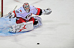 21 December 2008: Carolina Hurricanes' goaltender Cam Ward makes a save against the Montreal Canadiens in the third period at the Bell Centre in Montreal, Quebec, Canada. The Hurricanes defeated the Canadiens 3-2 in overtime. ***** Editorial Sales Only ***** Mandatory Photo Credit: Ed Wolfstein Photo