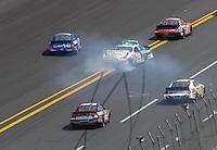 Apr 28, 2007; Talladega, AL, USA; Nascar Busch Series driver Scott Wimmer (29) spins during the Aarons 312 at Talladega Superspeedway. Mandatory Credit: Mark J. Rebilas