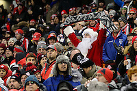 Toronto, ON, Canada - Saturday Dec. 10, 2016: Santa Claus during the MLS Cup finals at BMO Field. The Seattle Sounders FC defeated Toronto FC on penalty kicks after playing a scoreless game.