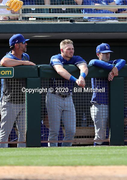 Gavin Lux - Los Angeles Dodgers 2020 spring training (Bill Mitchell)