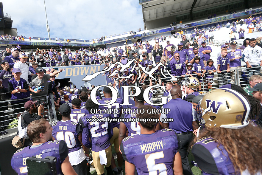 03 September 2016: Washington against Rutgers.  Washington defeated Rutgers 48-13 at the University of Washington in Seattle, WA.
