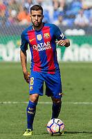 FC Barcelona's Jordi Alba during the match of La Liga between Club Deportivo Leganes and Futbol Club Barcelona at Butarque Estadium in Leganes. September 17, 2016. (ALTERPHOTOS/Rodrigo Jimenez)<br /> Liga Spagna 2016/2017 <br /> Foto Insidefoto