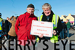 Jean Courtney (Dingle) and Danny Hanafin (Lispole) protesting the objection by An Taisce to upgrade the N86 road in Dingle on Saturday noon.
