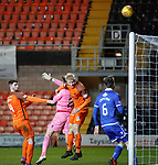 20.3.2018: Dundee Utd v Queen of the South followup:<br /> Thomas Mikkelsen heads over the bar