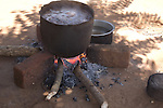 Preparing lunch, Ntcheu District village, Malawi