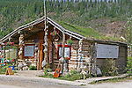 On the streets of Dawson City, The Tea House, THE YUKON TERRITORY, CANADA