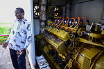 TANZANIA Tanga, Katani Ltd. Biogas Plant in Hale, the remaining fibres and pulp from sisal production is used for fermentation to produce biogas / TANSANIA Tanga, Katani Biogasanlage, aus den resten der Sisal Produktion wird Biogas gewonnen, chinesisches BHKW