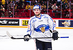Stockholm 2014-05-03 Ishockey Oddset Hockey Games  Sverige - Finland :  <br /> Finlands Iiro Pakarinen ser glad ut efter att ha gjort m&aring;l p&aring; straff i straffl&auml;ggning och avgjort matchen mot Sverige <br /> (Foto: Kenta J&ouml;nsson) Nyckelord:  Oddset Hockey Games Sverige Swe Tre Kronor Finland Fin Globen Ericsson Globe Arena portr&auml;tt portrait glad gl&auml;dje lycka leende ler le