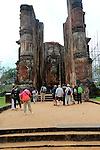 UNESCO World Heritage Site, ancient city Polonnaruwa, Sri Lanka, Asia, Lankatilaka building, Alahana Pirivena complex