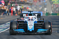 March 16, 2019: George Russell (GBR) #63 from the Williams Racing team leaves the pit to start the qualification session at the 2019 Australian Formula One Grand Prix at Albert Park, Melbourne, Australia. Photo Sydney Low