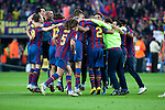 BARCELONA (16/05/2010).- Barcelona players celebrate Spanish League Championship at Camp Nou Stadium...Photo. Gregorio / ALFAQUI