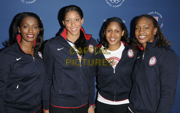 members of the US women basketball team.The US Olympic Committee's Benefit Gala, Royal College of Art, Kensington Gore, London, England..July 26th, 2012.half length blue jacket.CAP/CAN.©Can Nguyen/Capital Pictures.