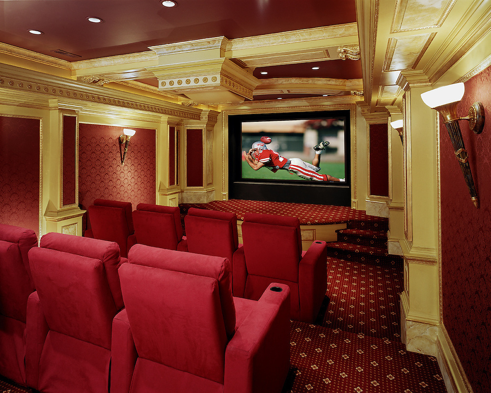 Custom Screening Room With High End Finishing