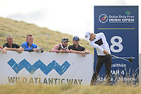 Joakim Lagergren (SWE) on the 8th tee during Round 2 of the Dubai Duty Free Irish Open at Ballyliffin Golf Club, Donegal on Friday 6th July 2018.<br /> Picture:  Thos Caffrey / Golffile