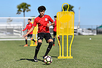 Lakewood Ranch, FL - Sunday Jan. 07, 2018: Richard Ledezma during an U-19 USMNT training session at Premier Sports Campus in Lakewood Ranch, FL.