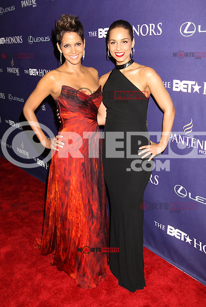 WASHINGTON, D.C. - JANUARY 12: Halle Berry and Alicia Keys on the red carpet at the BET Honors at the Warner Theatre in Washington, D.C. January 12, 2013. Credit: mpi34/MediaPunch Inc. /NortePhoto