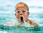 JCC's Jack Delquadro competes in the 100 yard IM race during the 53rd annual Country Club Swimming Championships on Monday, Aug. 6, 2012, in Kearns, Utah. (© 2012 Douglas C. Pizac)