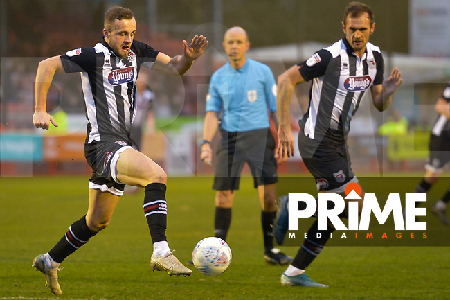 Charles Vernam and James Hanson during the Sky Bet League 2 match between Crawley Town and Grimsby Town at The People's Pension Stadium, Crawley, England on 25 January 2020. Photo by Lee Blease.