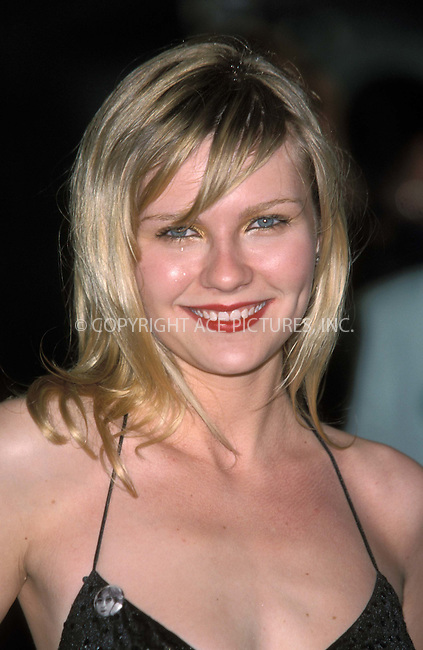 *** USA RIGHTS ONLY***    ..Kirsten Dunst at the Spiderman film premiere at Odeon, Leicester Square Theater in Longon. June 5, 2002.  REF: PPSA2059/11729. Please byline: NY Photo Press.   ..*PAY-PER-USE*      ....NY Photo Press:  ..phone (646) 267-6913;   ..e-mail: info@nyphotopress.com