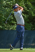 Yuta Ikeda (JAP) watches his tee shot on 9 during 3rd round of the 100th PGA Championship at Bellerive Country Club, St. Louis, Missouri. 8/11/2018.<br /> Picture: Golffile | Ken Murray<br /> <br /> All photo usage must carry mandatory copyright credit (&copy; Golffile | Ken Murray)