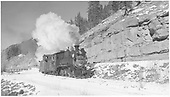 RGS #20 on a caboose hop between Stoner and Bear Creek.<br /> RGS  Stoner, CO  Taken by Richardson, Robert W. - 11/16/1951
