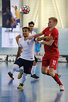 Raoni Medina of England and Tomasz Kriezel of Poland during England vs Poland, International Futsal Friendly at St George's Park on 2nd June 2018