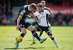 Ross County v St Johnstone&hellip;..30.04.16  Global Energy Stadium, Dingwall<br />Danny Swanson is tackled by Marcus Fraser<br />Picture by Graeme Hart.<br />Copyright Perthshire Picture Agency<br />Tel: 01738 623350  Mobile: 07990 594431