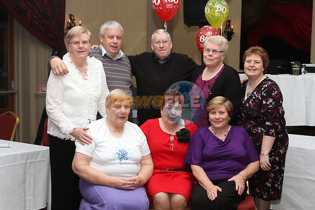 Agnes Kavanagh with her brothers and sisters at her 60th in The Westcourt Hotel...(Photo credit should read Jenny Matthews www.newsfile.ie)....This Picture has been sent you under the condtions enclosed by:.Newsfile Ltd..The Studio,.Millmount Abbey,.Drogheda,.Co Meath..Ireland..Tel: +353(0)41-9871240.Fax: +353(0)41-9871260.GSM: +353(0)86-2500958.email: pictures@newsfile.ie.www.newsfile.ie.