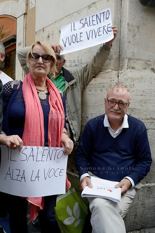 Roma, 11 Maggio 2017<br /> L'oncologo Giuseppe Serravezza<br /> Manifestazione a Roma dei Sindaci Salentini a Montecitorio contro il Gasdotto Tap