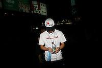CHINA. Beijing. A young man in the shopping district of Xidan . 2008