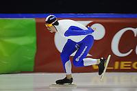 SCHAATSEN: HEERENVEEN: 24-10-2014, IJsstadion Thialf, Trainingswedstrijd, Frank Vreugdenhil, ©foto Martin de Jong