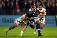 Semesa Rokoduguni of Bath Rugby takes on the Exeter Chiefs defence. Gallagher Premiership match, between Bath Rugby and Exeter Chiefs on October 5, 2018 at the Recreation Ground in Bath, England. Photo by: Patrick Khachfe / Onside Images