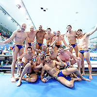 ITaly ITA Qualified to Rio<br /> FINA Men's Water Polo Olympic Games Qualifications Tournament 2016<br /> quarter final<br /> Romania ROU (White) Vs Italy ITA (Blue)<br /> Trieste, Italy - Swimming Pool Bruno Bianchi<br /> Day 06  08-04-2016<br /> Photo G.Scala/Insidefoto/Deepbluemedia
