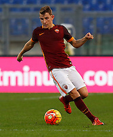 Calcio, Serie A: Roma vs Lazio. Roma, stadio Olimpico, 8 novembre 2015.<br /> Roma's Lucas Digne in action during the Italian Serie A football match between Roma and Lazio at Rome's Olympic stadium, 8 November 2015.<br /> UPDATE IMAGES PRESS/Riccardo De Luca
