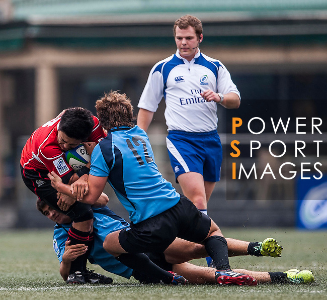 Uruguay vs Japan during the Day 1 of the IRB Junior World Rugby Trophy 2014 at the Hong Kong Football Club on April 7, 2014 in Hong Kong, China. Photo by Xaume Olleros / Power Sport Images