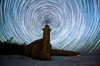 Grand Island East Channel Lighthouse, startrails