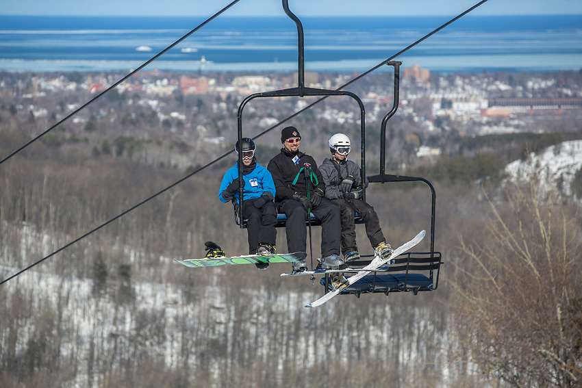 Marquette Mountain ski area Marquette, Michigan.