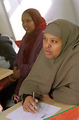 Somali refugees at an English as a Second Language (ESOL) class run by the College of North West London on Chalkhill Estate, Wembley, Brent, London.