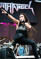 Death Angel performing at Heavy MTL 2011 in Montreal, QC.