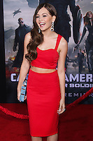 """HOLLYWOOD, LOS ANGELES, CA, USA - MARCH 13: Kelli Berglund at the World Premiere Of Marvel's """"Captain America: The Winter Soldier"""" held at the El Capitan Theatre on March 13, 2014 in Hollywood, Los Angeles, California, United States. (Photo by Xavier Collin/Celebrity Monitor)"""