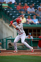 Peoria Chiefs Brady Whalen (7) during a Midwest League game against the Fort Wayne TinCaps on July 17, 2019 at Parkview Field in Fort Wayne, Indiana.  Fort Wayne defeated Peoria 6-2.  (Mike Janes/Four Seam Images)