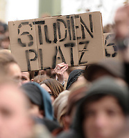 students against Bologna - demonstration in Leipzig