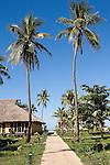 Path leading through the bungalows at resort on Tokoriki Island (Sheraton Resort & Spa) in the Mamanuca's Fiji Islands