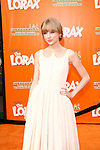 LOS ANGELES, CA - FEB 19: Taylor Swift at the 'Dr. Suess' The Lorax' premiere at Universal Studios Hollywood on February 19, 2012 in Los Angeles, California