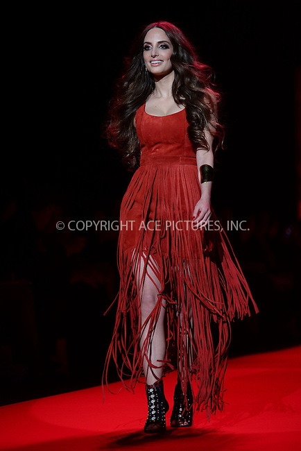 WWW.ACEPIXS.COM<br /> February 12, 2015 New York City<br /> <br /> Alexa Ray Joel walks the runway at the Go Red For Women Red Dress Collection 2015 presented by Macy's fashion show during Mercedes-Benz Fashion Week Fall 2015 at The Theatre at Lincoln Center on February 12, 2015 in New York City.<br /> <br /> Please byline: Kristin Callahan/AcePictures<br /> <br /> ACEPIXS.COM<br /> <br /> Tel: (646) 769 0430<br /> e-mail: info@acepixs.com<br /> web: http://www.acepixs.com