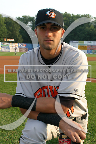 August 18, 2005:  Nick Markakis of the Bowie BaySox during a game at Metro Bank Park in Harrisburg, PA.  Bowie is the Eastern League Double-A affiliate of the Baltimore Orioles.  Photo by:  Mike Janes/Four Seam Images