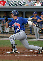 September 3, 2003:  Third baseman Ryan Roberts (17) of the Auburn Doubledays, Class-A affiliate of the Toronto Blue Jays, during a game at Dwyer Stadium in Batavia, NY.  Photo by:  Mike Janes/Four Seam Images