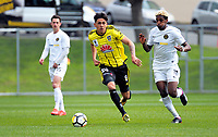 Logan Rogerson in action during the A-league and ISPS Handa Premiership football preseason match between Wellington Phoenix and Team Wellington at Martin Luckie Park in Wellington, New Zealand on Saturday, 30 September 2017. Photo: Dave Lintott / lintottphoto.co.nz