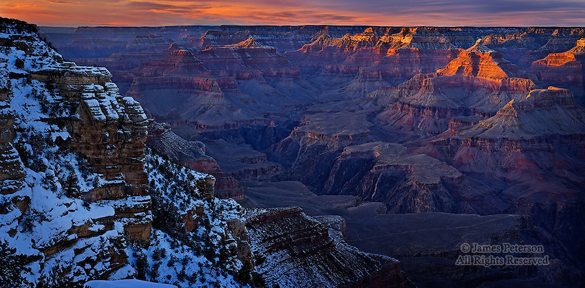 View from Mather Point, South Rim of Grand Canyon, Arizona
