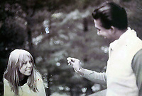BNPS.co.uk (01202 558833)<br /> Pic: Omega/BNPS<br /> <br /> Girlfriend Patti Boyd accompanied Harrison on his trip to India.<br /> <br /> Never before seen photographs of George Harrison's spiritual trip to India that influenced the rest of The Beatles to later visit have been unearthed over 50 years later.<br /> <br /> The late Beatle found the 1966 pilgrimage to the sub-continent liberating and persuaded the rest of the band to go back with him 18 months later.<br /> <br /> Their famous visit and stay with the Maharishi Mahesh Yogi's yoga retreat had a significant influence in the music the Fab Four went on to  produce.<br /> <br /> The six colour faded photos show George with his wife Patti Boyd with sitar player Ravi Shankar and friends sitting among ancient ruins and a selfie of him on a beach.<br /> <br /> Being sold alongside the snaps is a quilted orange jacket that George wore in India and left behind in 1967.